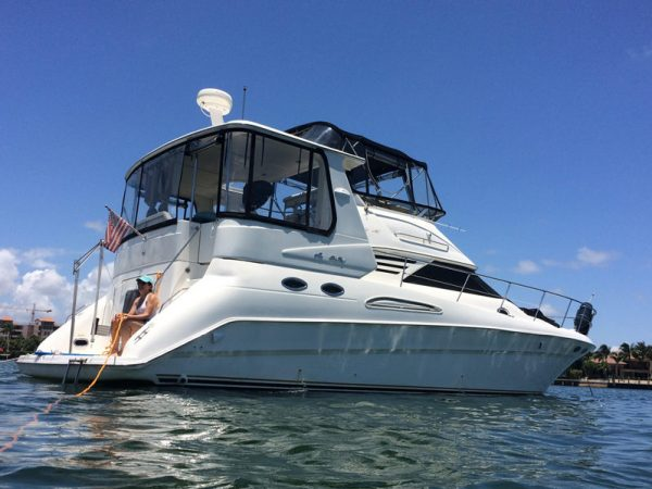 Searay 420 motor yacht charter los angeles