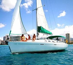 honolulu boat rent yacht charter beneteau 39 sailboat