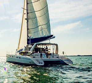 key west yacht rental boat charter 42 feet leopard catamaran