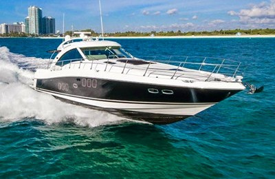 miami yacht rental boat charter 55' searay express yacht charter