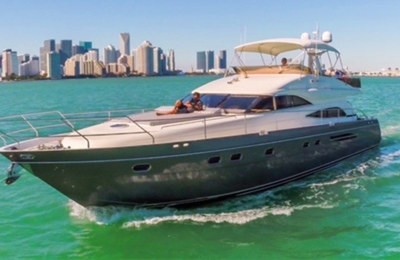 miami yacht rental boat charter 65' princess yacht charter