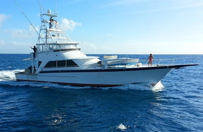 honolulu yacht rental boat charter 74' fishing snorkel yacht