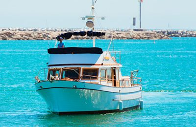 los angeles marina del rey yacht rental 40' trawler motor yacht charter