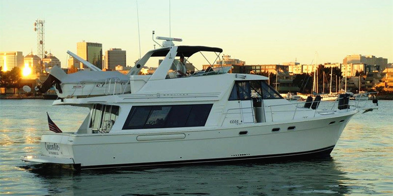 The 54 motor yacht onboat inc for Motor boat rental san francisco