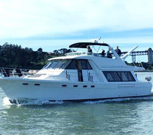 san francisco yacht charter boat rental sausalito 54' motor yacht charter