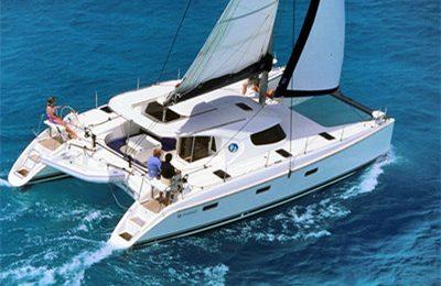 barcelona yacht rentals catamaran charter 40' nautitech
