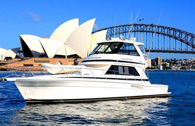 sydney harbor private yacht hire 55' motor yacht rental