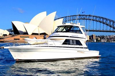 Onboat inc 55 motor yacht hire charter sydney for Motor boat rental san francisco