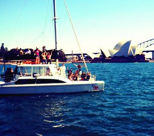 Sydney harbor yacht for hire 35 feet catamaran charter