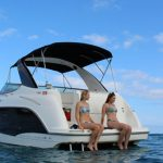 Honolulu yacht charter bayliner 310 private snorkel trip