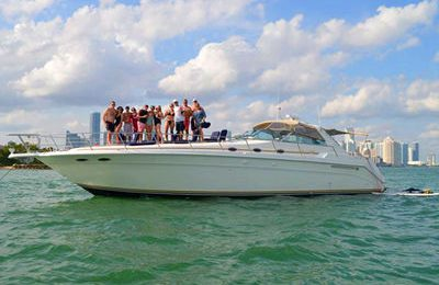 boston yacht rental private charter on 50' searay motor yacht