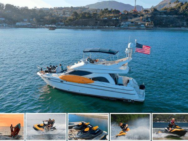 marina del rey yacht jetski combo rental